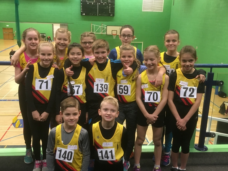 The Boston District Ac Team At Lincolnshire Aa Sportshall Athletics Championships